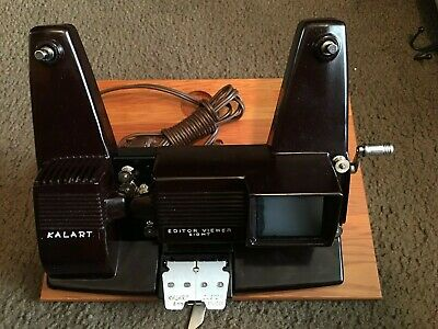 Vintage Kalart Editor Viewer Eight For All 8MM Movies Color B&W USA Untested
