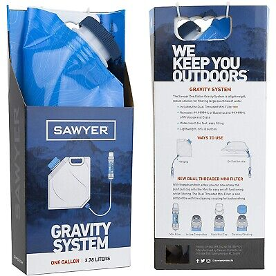 Sawyer GRAVITY 1-gallon water filter filtration system single bladder NEW IN BOX