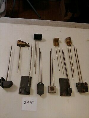 10 Assorted Chime Bars From Tambour & Banjo Clocks