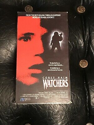 Watchers VHS TAPE 1988 - Corey Haim - Dean Koontz - HORROR In Great Condition