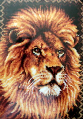 "Latch Hook  Large Animal Rug Canvas Kit ""A Lion"""