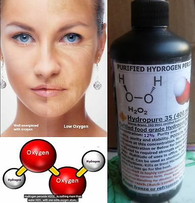 PURIFIED FOOD GRADE hydrogen peroxide for Medicinal, Internal 1 iminute  cure use
