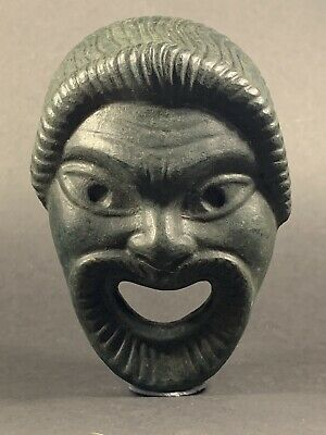 Extremely Rare Ancient Roman Bronze Theatrical Mask Circa 100-300Ad