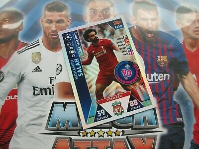 Match Attax Attack Champions League 18/19 2018/19 213 Mohamed Salah Goal Machine