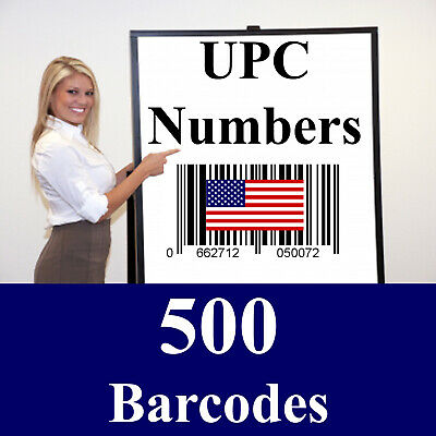 500 Amazon UPC Barcode Codes Numbers - Don't buy fake numbers