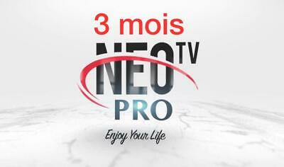 Neotv Pro 03 mois 1600 Channels +HD + H265 + 2000 VOD international live TV