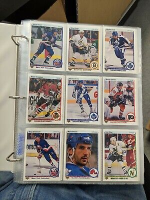 1990-91 Upper Deck Hockey Complete Set Hi & Low 1-550 + Binder Sheets