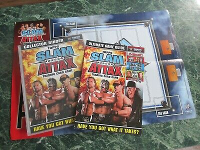 Topps WWE Slam Attax 2008 - Complete Binder Set 172 Cards + Guide & Play + 1 LTD