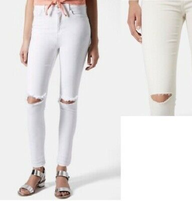 8139e28f608 TOPSHOP MOTO LEIGH Ripped Skinny Jeans Black Size 32 - $17.50 | PicClick