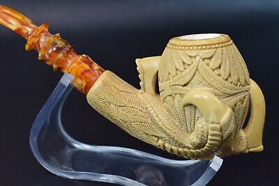 Large Ornate Claw Pipe  By I BAGLAN New Block Meerschaum Handmade W Case#552