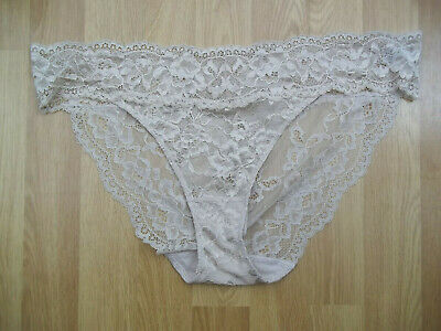 2 pairs of Marks & Spencer floral lace bikini knickers size 10