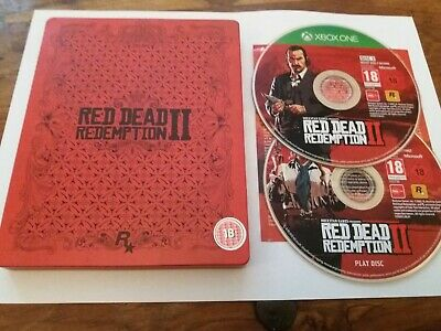 Red Dead Redemption II 2 Disc Steelbook Edition UK Xbox One Near Mint