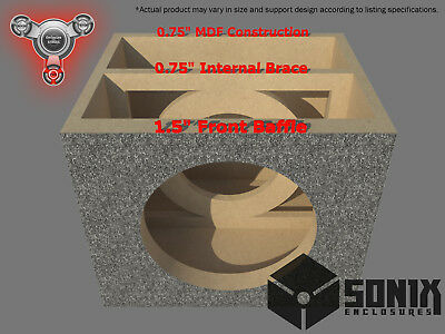 Stage 2 - Sealed Subwoofer Mdf Enclosure For Audio Frog Gb12D4 Sub Box