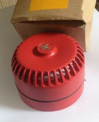 RoLP Maxi Red 6 Tone Electronic Sounder, 9- 28 V dc, 105dB at 1 Metre