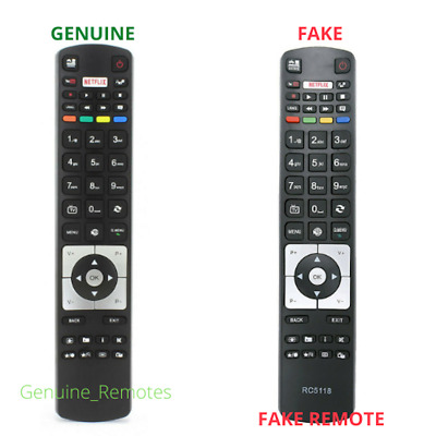 Remote Control RC5118/RC5118F for Hitachi Digihome Alba Polaroid Finlux Smart TV