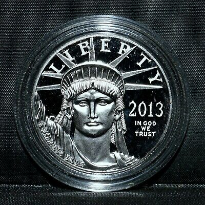 2013-W $100 Platinum American Eagle ✪ Proof ✪ 1 Oz Capsule Only L@@K ◢Trusted◣
