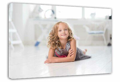Personalised 12 x 8 inch Photo on Canvas Print Framed Ready to Hang