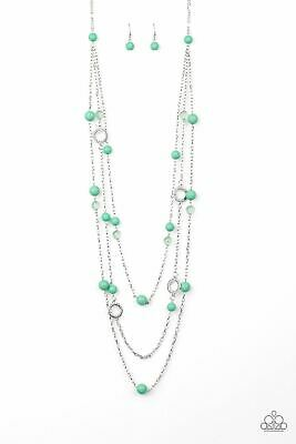 Brilliant Bliss - Green Necklace Paparazzi Accessories Jewelry