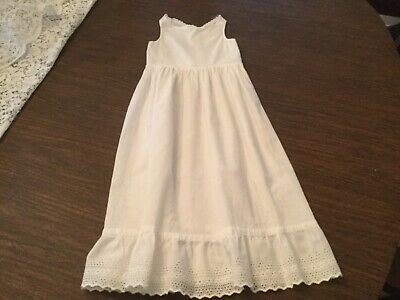 Antique baby slip Vintage Children's Clothing Baptism Eyelet Early 1900s