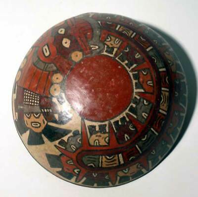 Pre-Columbian Nazca Trophy Heads Bowl