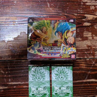 Dragon Ball Super DBS Destroyer Kings Set 6 Booster Box + 2 Broly Packs vol. 2