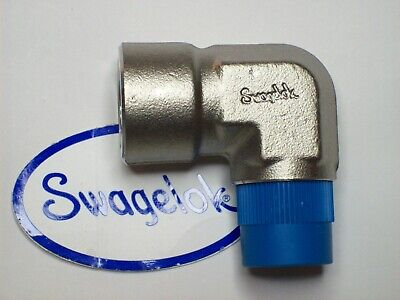 "1 - Swagelok Stainless Steel Male Pipe Elbow Fitting, 1/2"" Male NPT, SS-8-SE"