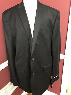 New$129 International Concept 2 Button Blazer 2XXlL Black Slim fit