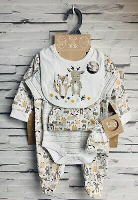 Lily & Jack Unisex Baby 6 Piece Hanging Gift Set Woodlands Friends NB-6 months