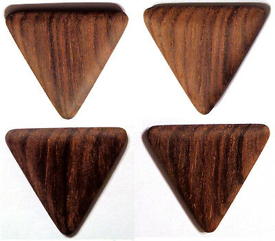 BASS GUITAR PICKS WOOD Brazilian Rosewood NEW 4 Plectrum Very Old Dry pre-CITES