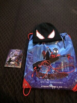 Spider-Man: Into The Spider-Verse Collectors Bag, Beanie, Headphones, Stickers!