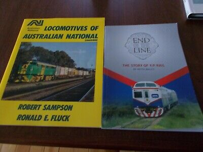 LOCOMOTIVES OF AUSTRALIAN NATIONAL & END OF THE LINE 2 X Books