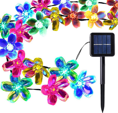 Outdoor Party Decoration Solar Powered Multi-coloured LED Fairy String Lights