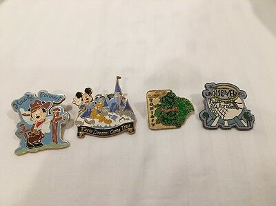 WDW 4 Disney Trading Pins! FREE Lanyard With Purchase! Free Shipping!