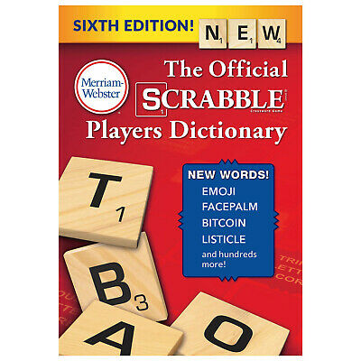 Official Scrabble Players Dictionary: New Sixth Edition Hardcover Book