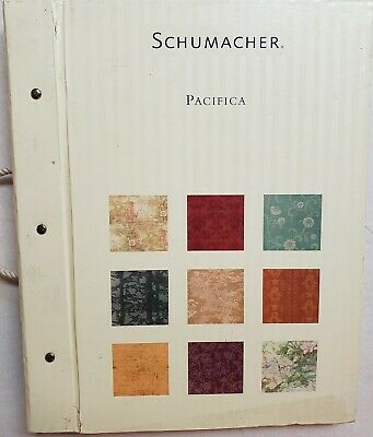 Schumacher Pacifica Grass Cloth Wallpaper Sample Book Scrapbooking Paper Craft
