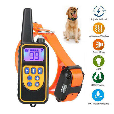 Hot 800m Rechargeable Trainer Tool Remote Pet Safe Dog Training Collar AU
