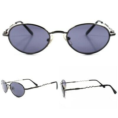 f1a4566194f0 70s 80s Old Hip Fashion Old stock True Vintage Mens Womens Metal Oval  Sunglasses
