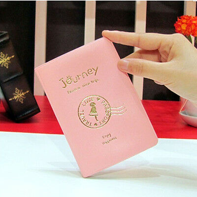 Cute Passport Holder Cover Case Protector PU Leather Travel Wallet Organizer  Pn