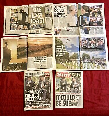 D-Day 75th Anniversary 07/06 UK Newspaper Clippings Cuttings D-Day Landings 2
