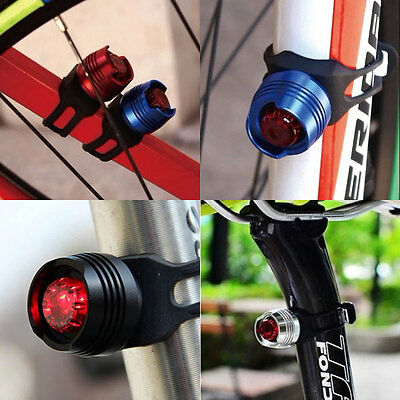 10XLED Waterproof Bike Bicycle Cycling Front Rear Tail Helmet Red Flash Li 9A5