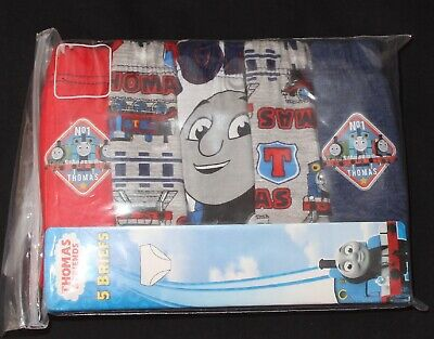 5 x Boy's 100% Official THOMAS & FRIENDS Briefs/Pants -100% Cotton NEW 3-4 Years