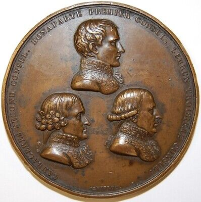 Napoleon-1802-The Three Consuls And The Treaty Of Amiens Medal