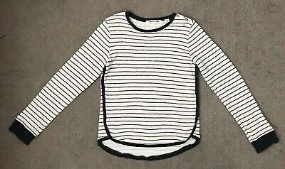 ~ COUNTRY ROAD ~ Girls Cotton Knit Navy & White Striped Jumper Top ~ Sz 8