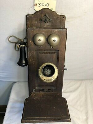 Antique 1917 Wesco Supply Co Candlestick Telepnone With Ringer Box Wesco Telephone Wiring Diagram