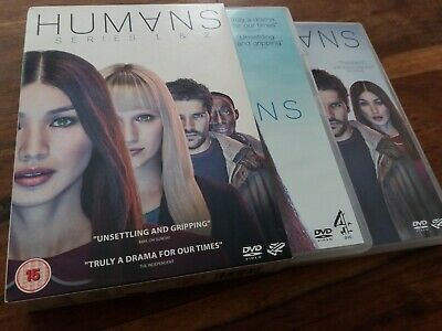 Humans Complete First Second Series Seasons 1 & 2 UK R2 4 Disc DVD Boxset Mint