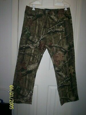 270de433 NWOT WRANGLER Camo Jeans 32 x 32 Mossy Oak Camo, Double Knees, Hunting,  Outdoor.