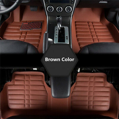 5x Universal Car Auto Floor Mats FloorLiner Front&Rear Carpet All Weather Mat Pn