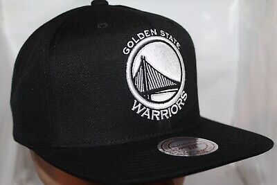 buy online 9a1f5 9e7a4 Golden State Warriors Mitchell   Ness NBA Black White Hi Crown Snapback,Hat ,Ca