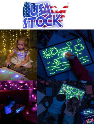 Glowing Paint Glow Light Tablet Draw With Light Fun And Developing T -USA Seller