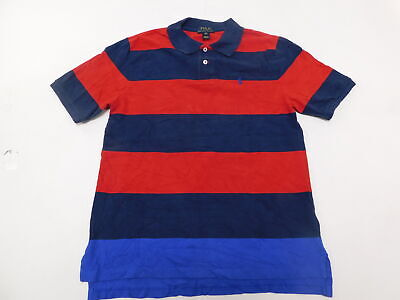 Boys Polo Ralph Lauren XL (18-20) Regular  Polo Rugby Blue Red  Cotton